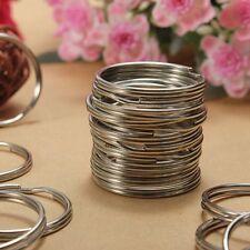 100PCS Key Rings Chains Split Ring Hoop Metal Loop Steel Accessories 25MM  USA