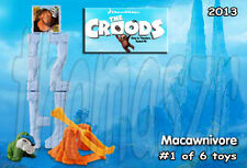 MACAWNIVORE toy #1 - The CROODS movie - McD McDonald's / Dreamworks (2013) *NIOP