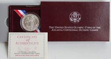1995 Olympics Paralympics Blind Runner BU 90% Silver Dollar US Mint Coin Box COA