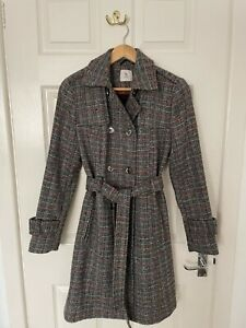 TU Brown Check Trench Coat, size 10 - WORN ONCE!
