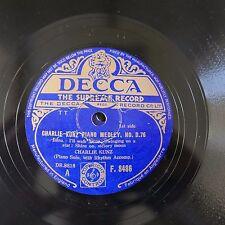 78rpm CHARLIE KUNZ piano medley d.76
