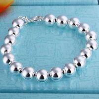 ASAMO Damen Armband mit Kugeln 925 Sterling Silber plattiert Schmuck A1136