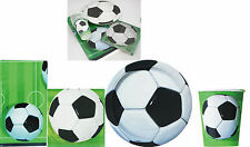FOOTBALL SOCCER BIRTHDAY PARTY PACK FOR 24 GUESTS,PLATES CUPS NAPKINS TABLECOVER