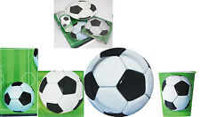 FOOTBALL SOCCER BIRTHDAY PARTY PACK FOR 16 GUESTS,PLATES CUPS NAPKINS TABLECOVER