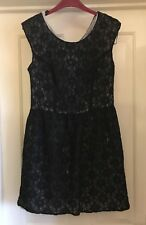 Atmosphere Black Stunning Lace Effect Dress, Size 12 - Beautiful!