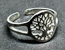925 Sterling Silver Yggdrasil Adjustable Uk Toe Ring Celtic Tree of Life Solid