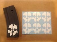 Call of Duty Ghosts Skull Sticker 6 Pack, goes on mag, All Colors!