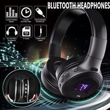 Funk Bluetooth On Ear Stereo HiFi Kabellos Kopfhörer Headset für PC TV Phone DE
