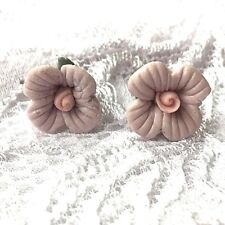 floral purple pale lilac petals pink stud earrings new jewellery day 1cm flower