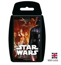 TOP TRUMPS STAR WARS 4 - 6 CARD GAME Family Kids Fun Play Quiz Christmas Gift UK