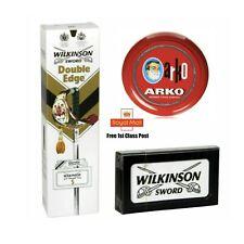 Wilkinson Sword Double Edge Razor Blades - Pack of 100 +ARKO SOAP