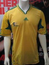 Adidas S. Africa 2010-2012 National Team Soccer Home Jersey-Yellow-Adult Large