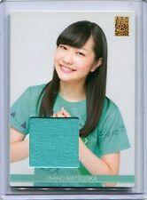 JAPANESE IDOL NMB48 Matsuoka Chiho COSTUME JERSEY CARD