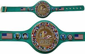 WBC Diamond Championship Belt Adult Size Title Belts Leather center plate stone