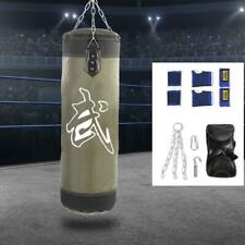 Empty Sandbag Boxing Training Punching Sand Bag Kick Fitness Metal Chain Hook