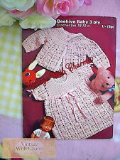 Vintage Crochet Pattern Baby Girls Prettily Stitched Dress & Coat. JUST £1.99