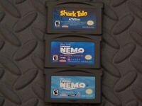 Lot Nintendo Game Boy Advance GBA Games Shark Tale + Finding Nemo + Finding Nemo
