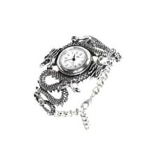 Imperial Dragon Two Dragons Yin Yang Pewter Wristwatch AW16 Alchemy Gothic Watch