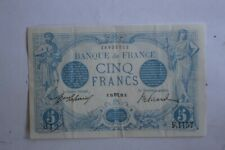 Billet 5 Francs bleu type 1905 France (31179)