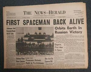 Yuri Gagarin - USSR - Soviet Space Flight - 1961 Pennsylvania Newspaper