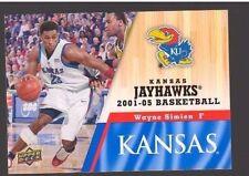 2013 Upper Deck Kansas #69 Wayne Simien Mint Jayhawks KU Basketball Rock Chalk