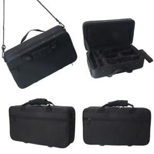 Clarinet Case Cover Padded Gig Bag w Side Pocket Single Shoulder Strap Black