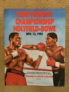 Evander Holyfield vs Riddick Bowe I On-Site Poster, 1992 Heavyweight Title Fight