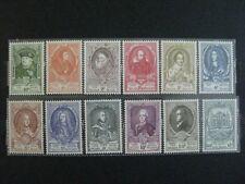 timbres belges : les grands maitres des postes 1952 COB n° 880 à 891 **