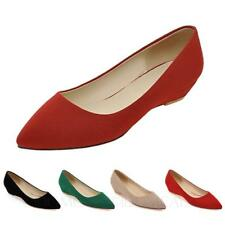 ladies Ballerinas Office Shoes womens Pumps Ballet Flats Pointed Toe UK 1-10