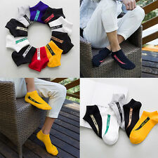 1 Pair Men Fashion Ankle Socks Low Cut Crew Casual Sport Color Cotton Socks