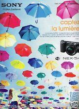 Publicité advertising 2012 Appareil Photo Sony Nex-5R