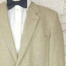 Recent Brooks Brothers Brown Beige Sport Coat Houndstooth Wool USA Made Sz 46 R