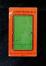 Rare Orig.1907 Sniders and Abraham Cigarette Tobacco Card Billiard Tricks # 6