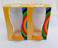Coca Cola McDonalds Contour Glass 2012 Olympics Wrist Band x2 yellow coke pair