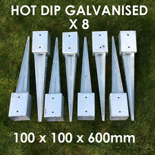 """8 X 100mm 4"""" FENCE POST SPIKE METAL SPIKES  STAKES GARDEN FENCE ANCHOR SPIKE"""