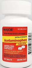 Major Acetaminophen 500 mg (Compare to Extra Strength Tylenol) 100 Tablets