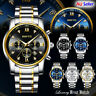 GIMTO Fashion Men's Watches Stainless Steel Date Waterproof Quartz Wrist Watch
