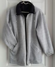 Women's Reversible Zippered Jacket w/ Pockets-Black and Gray