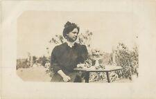 Hava Paustian, With The Fruits Of Her Garden, Hamilton, Missouri MO RPPC