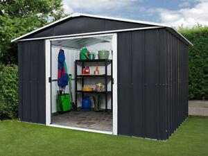 Geräteschuppen Gerätehaus 2 Größen lieferbar, inkl. Bodenrahmen Farbe: anthrazit