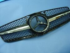 Black Front Grill For 2007-2014 Mercedes Benz W204 C-Class 4DR Sedan and Estate