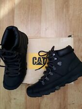 Mens black leather Boots by CAT size 8 eu 42
