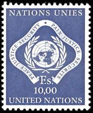 Scott # 14 - 1970 - ' UN Emblem '