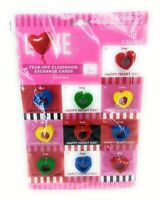 Tear Off 10 Count Classroom Valentines Day Exchange Cards with Crayons