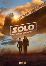 Solo A Star Wars Story Movie Poster (24x36) - Han Solo, Chewy, Lando, Qi'Ra v5