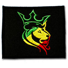Jamaica Lion of Judah Rasta Patch Bob Marley Embroidered Hippie Rastafari Reggae