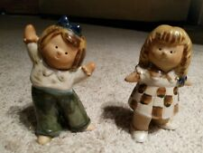 "Fitz and Floyd Japan Ceramic Figurines 5"" (2) Girls Rare Lisa Larson Design?"