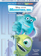 Monsters, Inc. (DVD, 2002, 2-Disc Set, Collector's Edition)