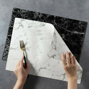 Marble Placemat Heat Insulation Western Oil-proof Dinnerware Kitchen Table LC