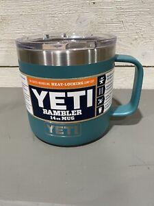 YETI Rambler 14 Oz Mug River Green New Authentic